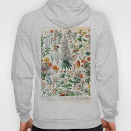 Adolphe Millot - Fleurs B - French vintage poster Hoody
