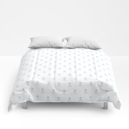 LIGHT BLUE SKULLS ALL OVER PRINT LARGE Comforters