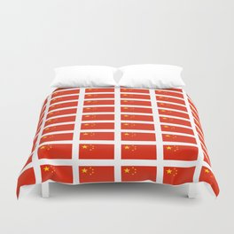 flag of china -中国,chinese,han,柑,Shanghai,Beijing,confucius,I Ching,taoism. Duvet Cover