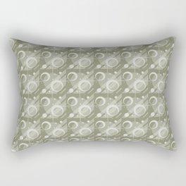 Modern Geometric Pattern 6 in Sage Green Rectangular Pillow