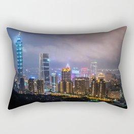 Lights of Taipei Rectangular Pillow
