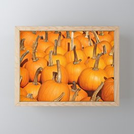 Orange Fall Pumpkins Framed Mini Art Print