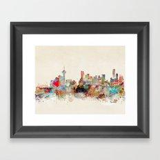 vancouver city skyline Framed Art Print