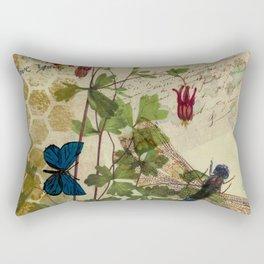 Columbine Love Letters 2 Rectangular Pillow