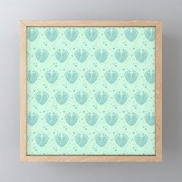 Baby feet background  3 Framed Mini Art Print