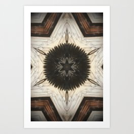 Quartz and Feather Art Print