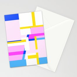 Abstract - Pink Blue and white Stationery Cards