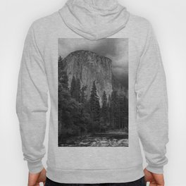 Yosemite National Park, El Capitan, Black and White Photography, Outdoors, Landscape, National Parks Hoody