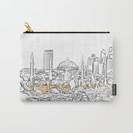 Modern and old Istanbul panorama drawing Carry-All Pouch
