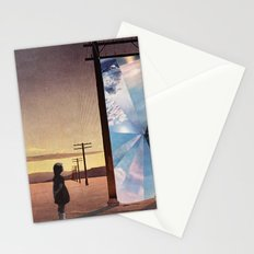 The broken window Stationery Cards