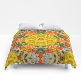 Marigold Kaleidoscope Photographic Pattern #2 Comforters