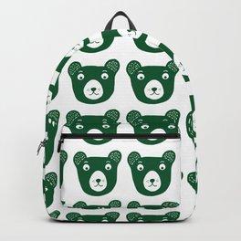 Dark green bear illustration Backpack
