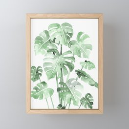 Delicate Monstera Green #society6 Framed Mini Art Print