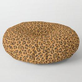 Dark leopard animal print Floor Pillow