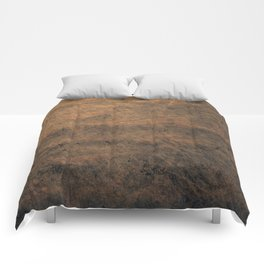 Scratched Suede Tobacco Comforters