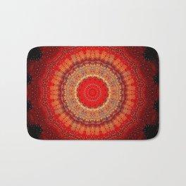 Vibrant Red Gold and black Mandala Badematte