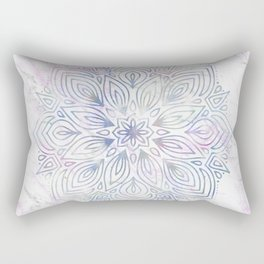Marble Mandala - Purple Blue Rose Gold Rectangular Pillow