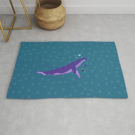 Electric Whales in a Polka Dot Sea Rug