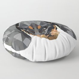 Dachshund | Low-poly Art Floor Pillow