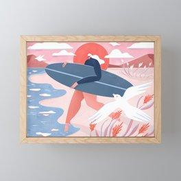 Evening surf Framed Mini Art Print