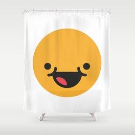 Emojis: Happy Shower Curtain