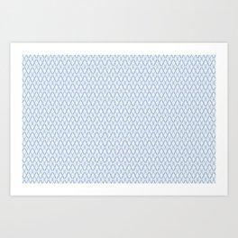 Crosshatch Blue Art Print