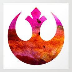 Star Wars Rebel Alliance Colors Art Print