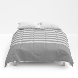 Gray color block and stripes Comforters