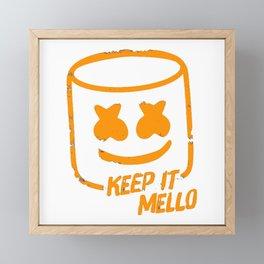 Marshmello - Keep It Mello Orange Framed Mini Art Print