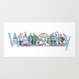 Wellesley College by Stephanie Hessler '84 Art Print