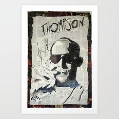 Dr. Hunter S. Thompson Art Print