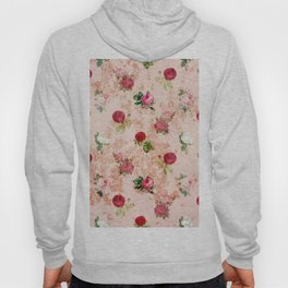 faded floral wallpaper Hoody