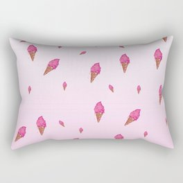 Ice cream cone all over print Rectangular Pillow