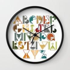 geometric alphabet v1 Wall Clock