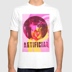 Artificial Single Mens Fitted Tee White MEDIUM