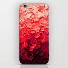 MERMAID SCALES 4 Red Vibrant Ocean Waves Splash Crimson Strawberry Summer Ombre Abstract Painting iPhone & iPod Skin