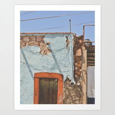 Peeled and worn in Mexico Art Print