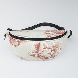 Rose Garden Vintage Rose Pink and Cream Fanny Pack