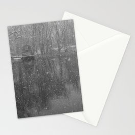 Arrives the Snow - Minute Man National Park in Winter Stationery Cards