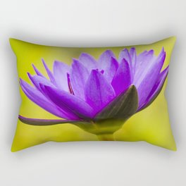 Blue Lotus Rectangular Pillow