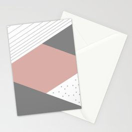 Shapes decor 2opposite. minimalist. line. stripes. Stationery Cards