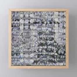 Post Digital Tendencies Emerge (P/D3 Glitch Collage Studies) Framed Mini Art Print