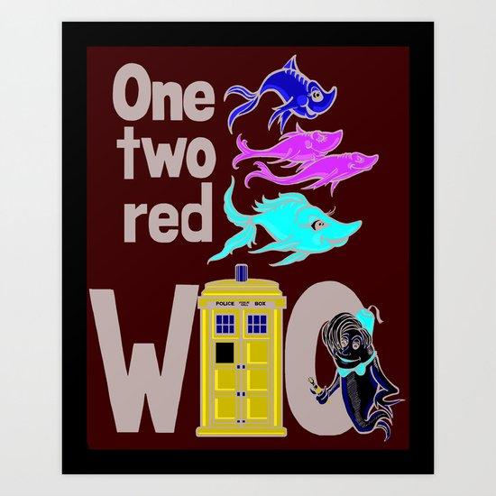 Doctor WHO Fish Art Print