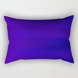 Ultra Violet to Indigo Blue Ombre Rectangular Pillow