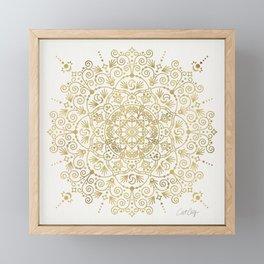 Moroccan Mandala – Gold Palette Framed Mini Art Print
