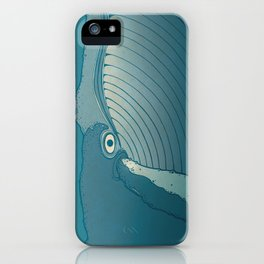 A whale ate her by mistake and spat her up in the sky iPhone Case