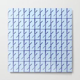 Antic pattern 11- from LBK blue Metal Print
