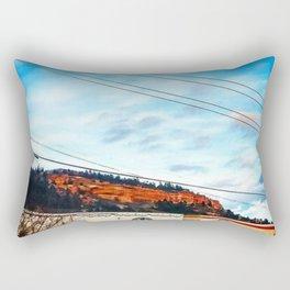 Graffiti and Lines Rectangular Pillow