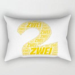 Zahl Zwei t shirt german as birthday present Rectangular Pillow