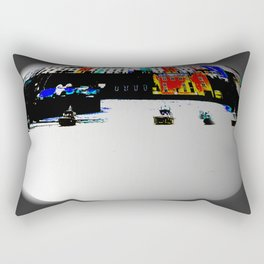 Boats In The Habour Rectangular Pillow